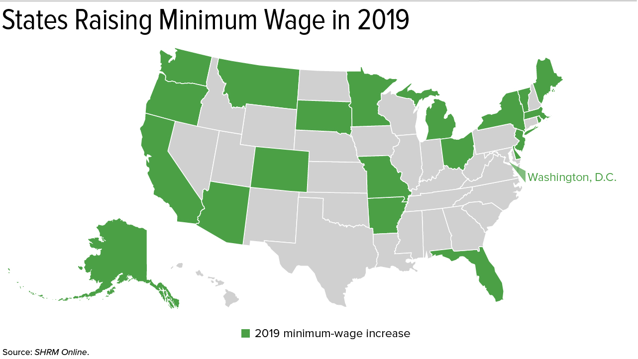 Many States and Cities Raise Their Minimum Wage in 2019