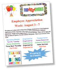 Employee Appreciation Week Flyer